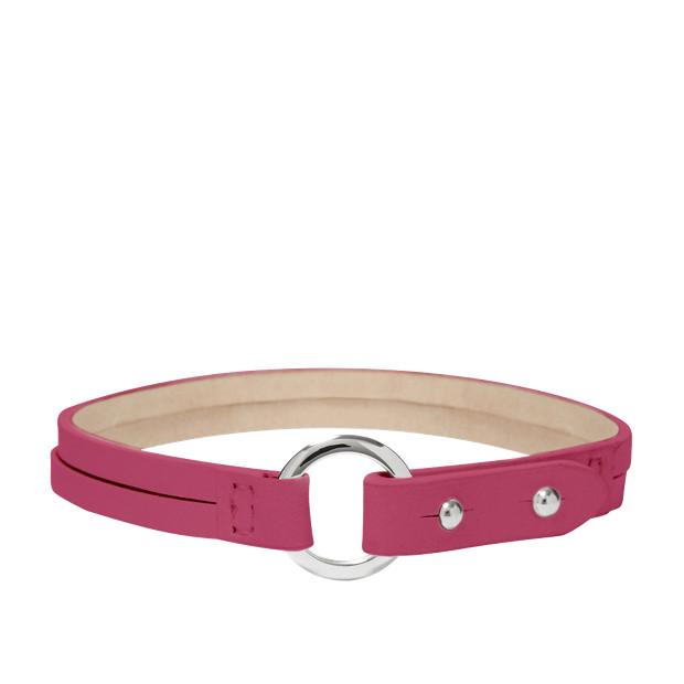 Double Wrap Charm Bracelet - Fuchsia