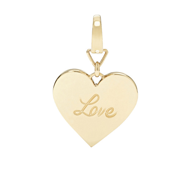 Fossil Love Pendant Charm- Gold- Tone