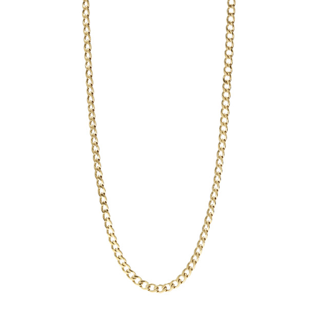 Chain Charm Starter Necklace- Gold-Tone