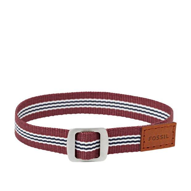 Field Strap Bracelet- Red And White
