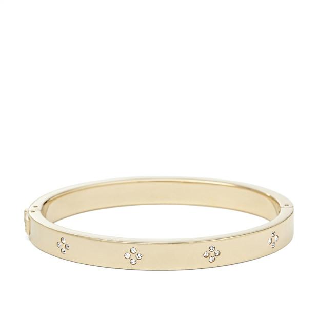 Bracelet rigide strassé - Doré