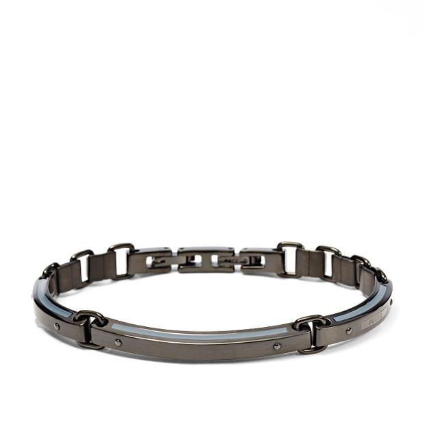 Black Basic Steel Bracelet