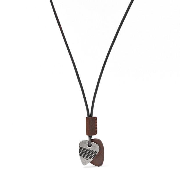 Leather Triangle Pendant