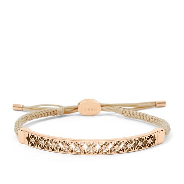 Bracelet semi-rigide motif signature