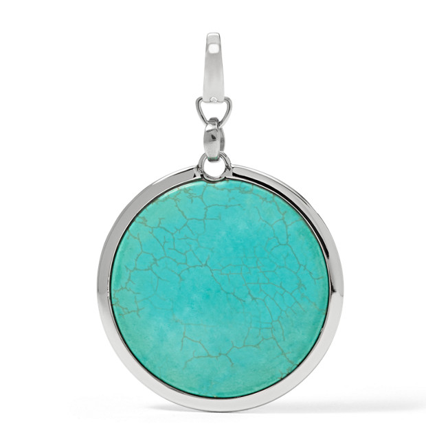 Synthetic Turquoise Pendant Charm
