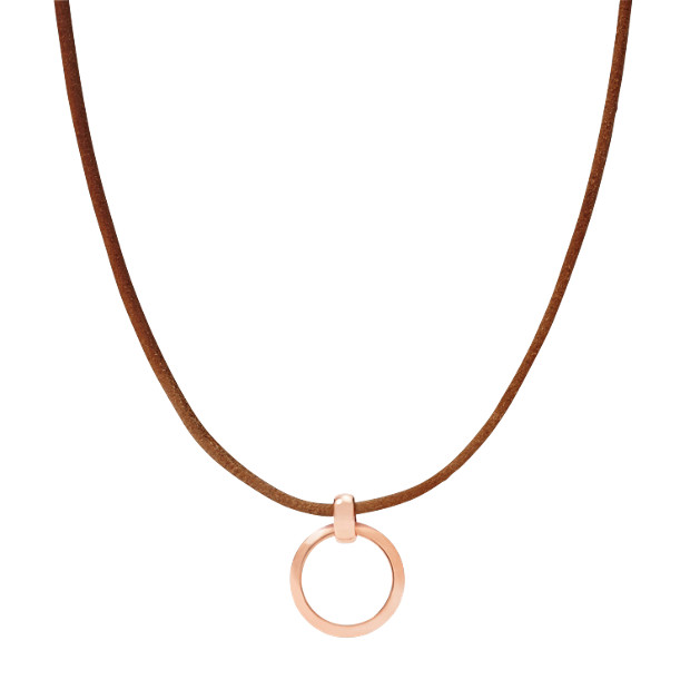 Leather Cord Necklace With Ring Charm Starter