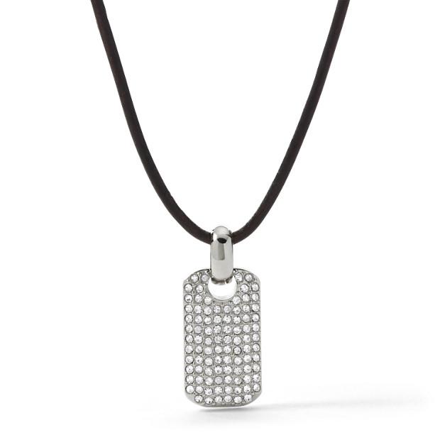 Pavé Dog Tag Necklace