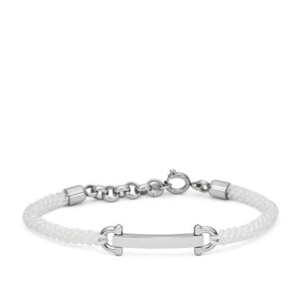 D-Link Macramé Bracelet- White