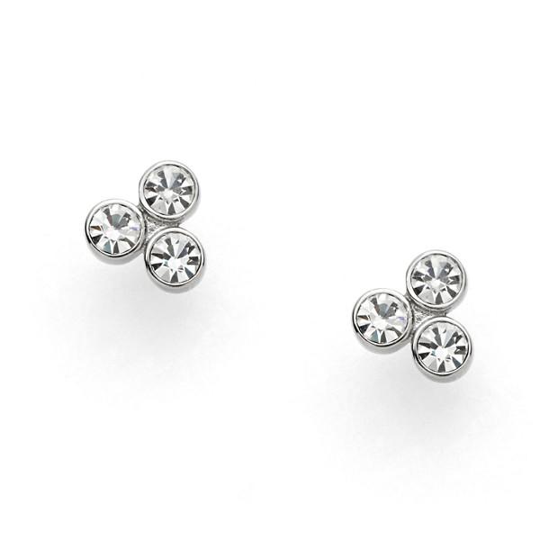 Dot Silver-Tone Earrings