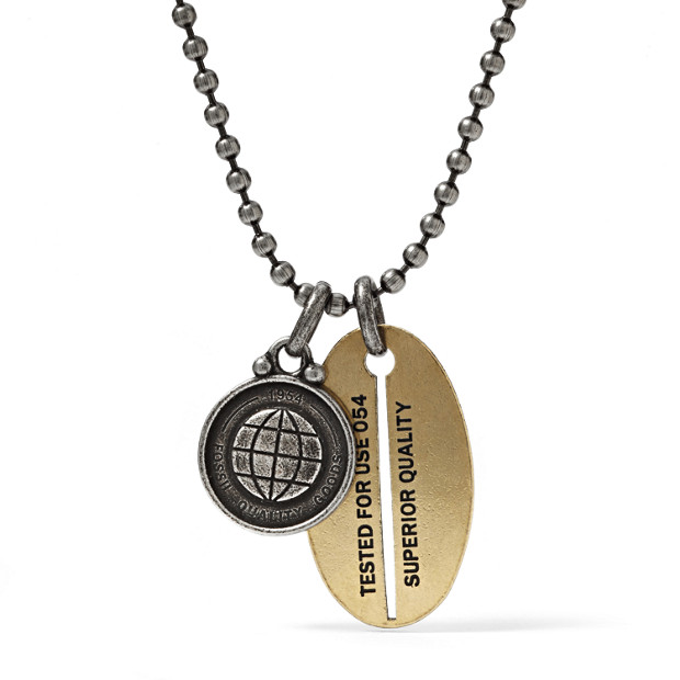 Oval Tag Necklace