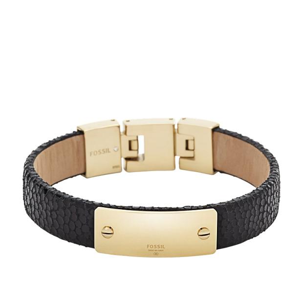 Leather Plaque Bracelet