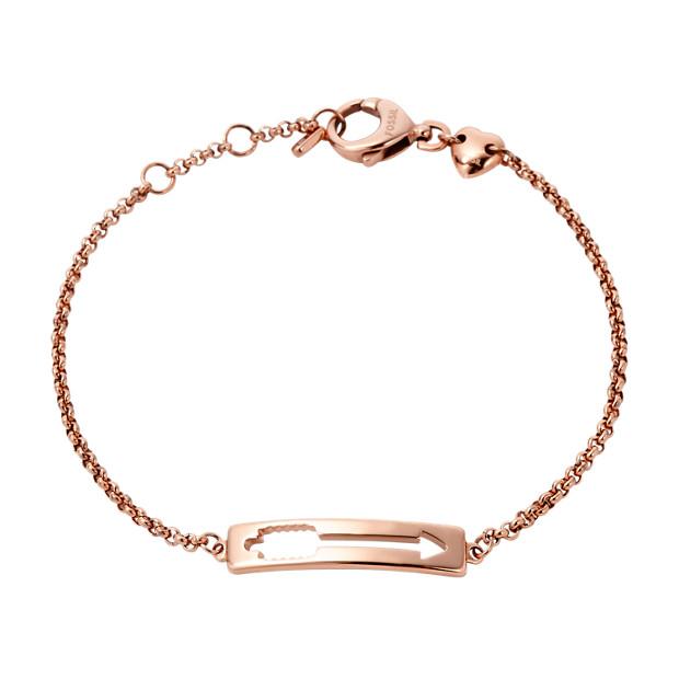 Cutout Arrow Plaque Bracelet