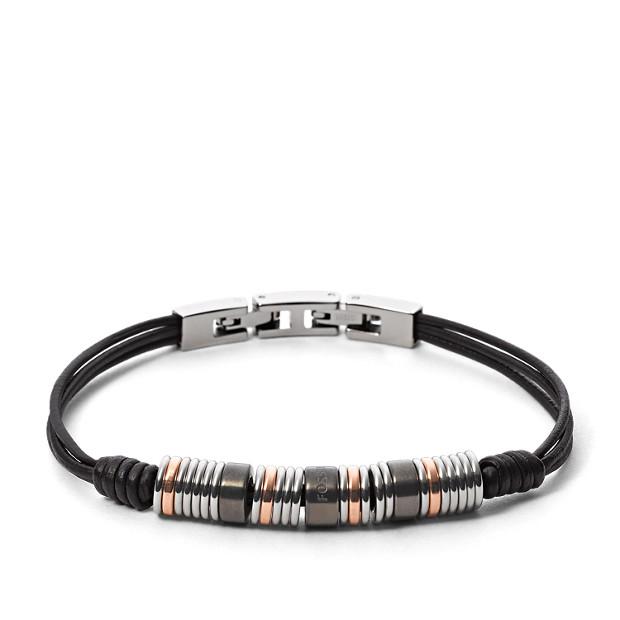 Tri-Tone Rondel Bracelet