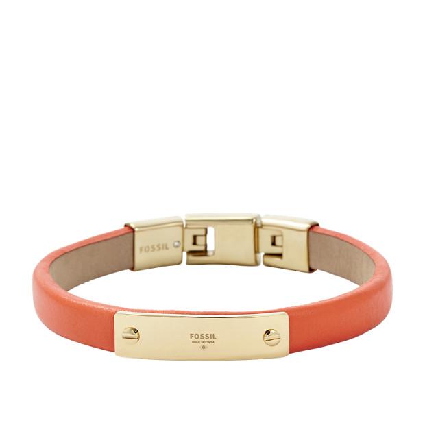 Bracelet en cuir avec plaque