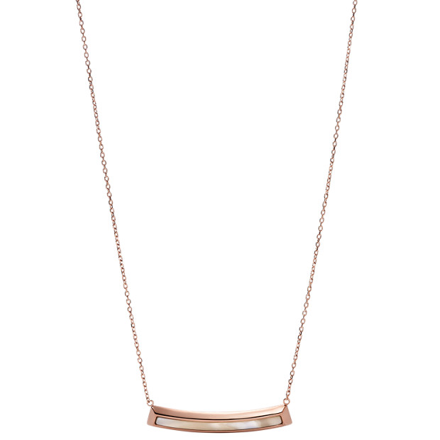 Shimmer Horn Bevel Plaque Necklace