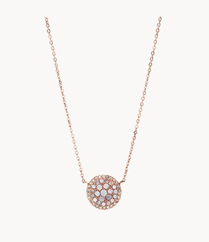 Pearl Disc Rose-Gold-Tone Pendant