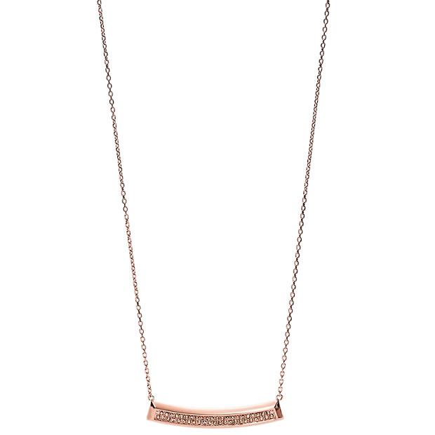 Damen Halskette - Bevel Plaque
