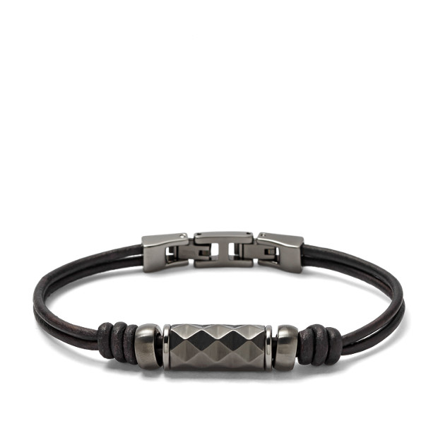Textured Leather Bracelet
