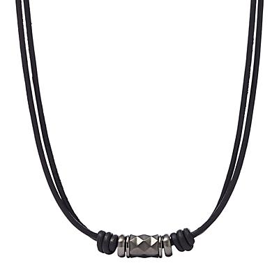Herren Halskette - Textured Leather