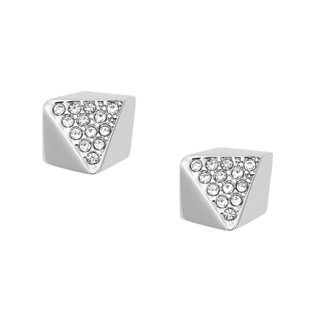 Clous d'oreilles perles facettées