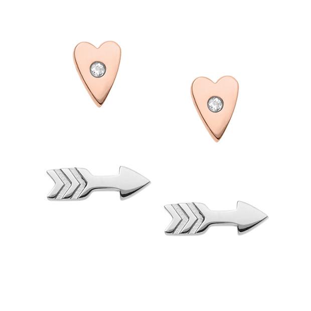 Damen Ohrstecker - Heart and Arrow