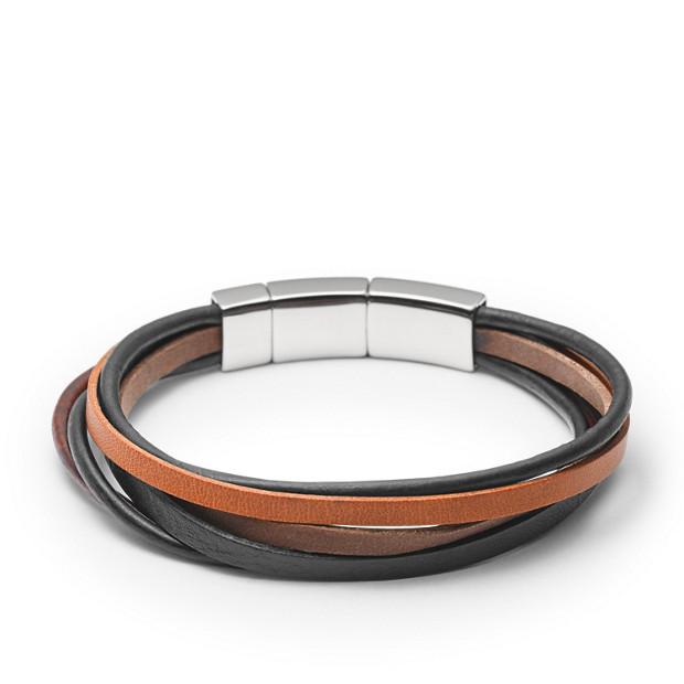 Bracelet en cuir multiliens