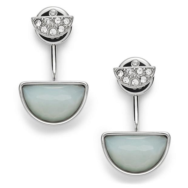 Damen Ohrstecker - Half Stone Drops
