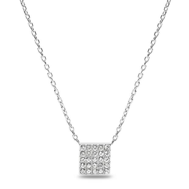 Glitz Square Pendant Necklace