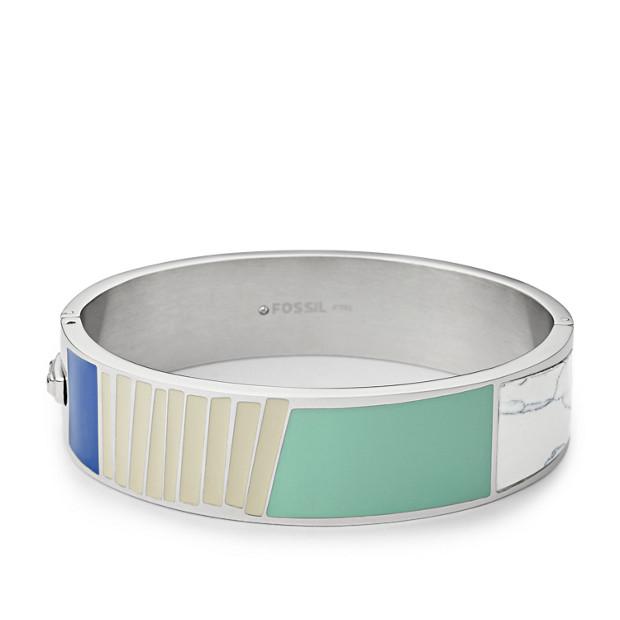 Enamel Dipped Silver-Tone Bracelet
