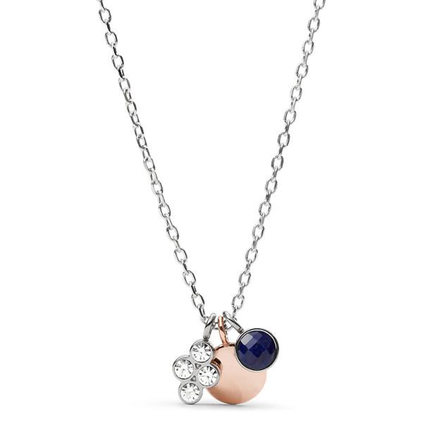 Damen Halskette - Enamel Dipped Charm Necklace
