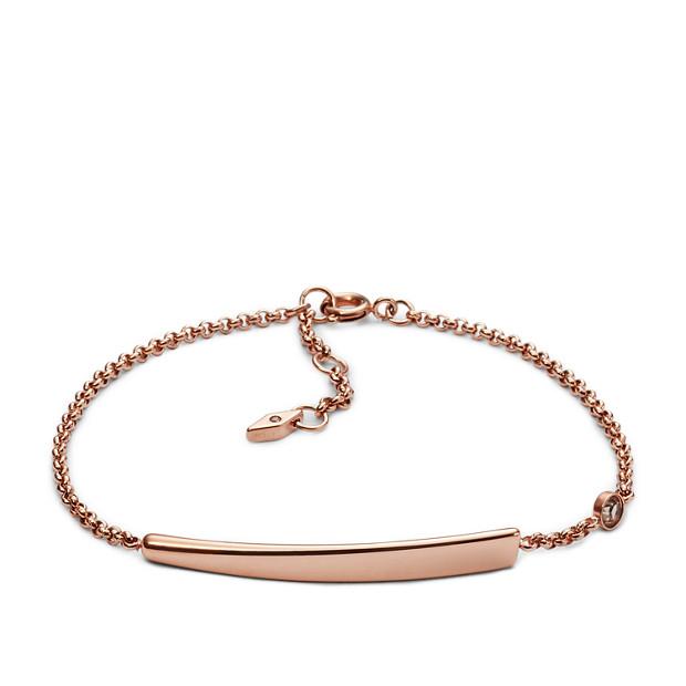 High Tide Plaque Bracelet - Rose Gold Tone