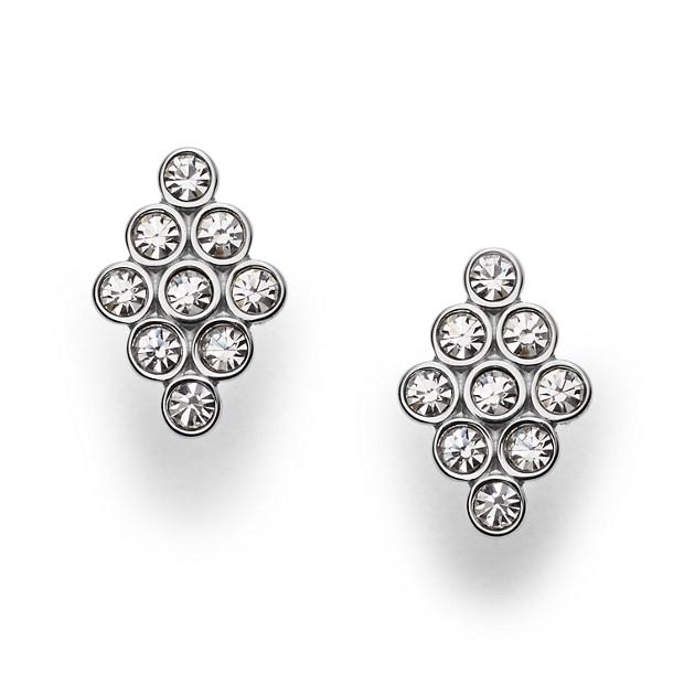 Vintage Glitz Diamond-Shaped Earrings