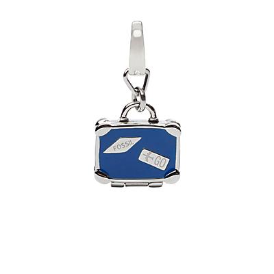 Luggage Silver-Tone Charm
