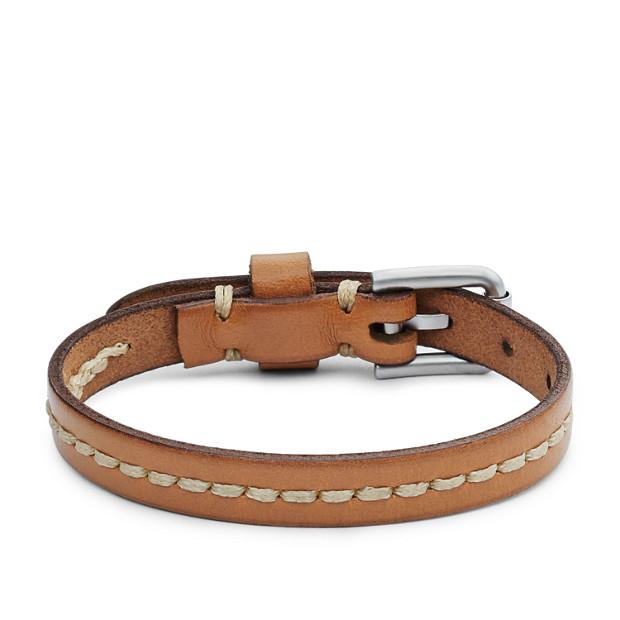 Vintage Casual Stitched Leather Bracelet