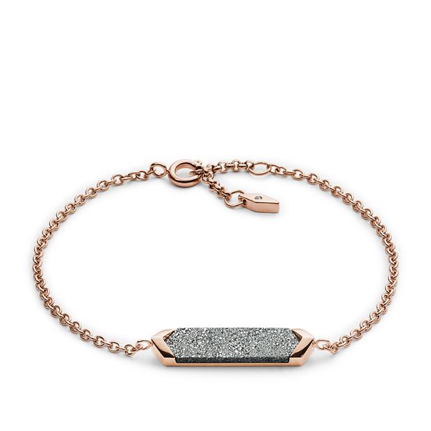 Bracelet plaqueen pierre scintillante