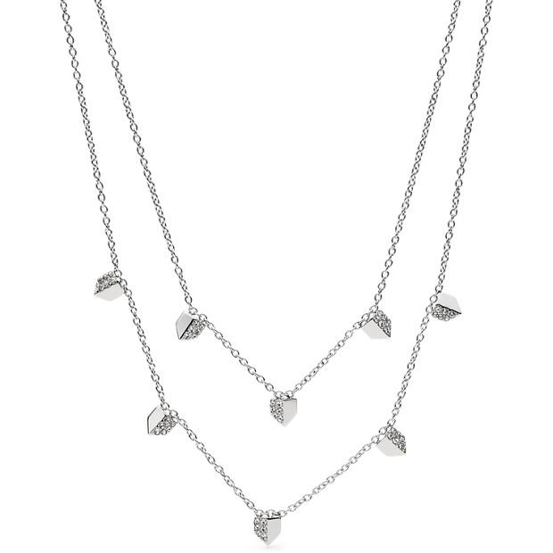 Damen Halskette - Vintage Glitz Chevron Double Necklace
