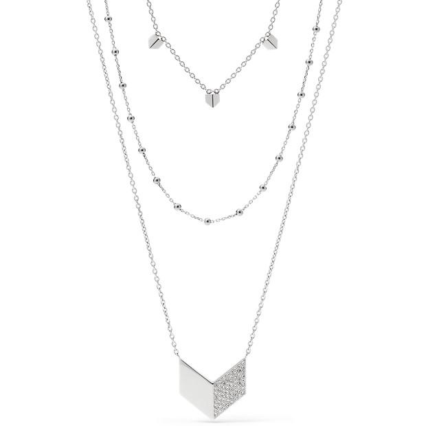 Vintage Glitz Chevron Triple Necklace
