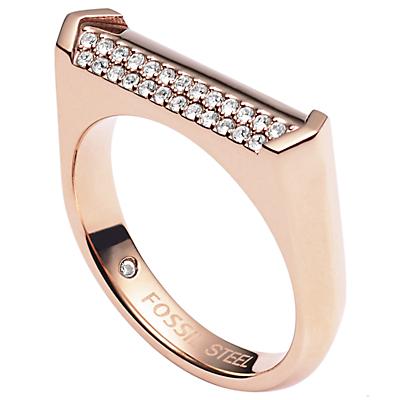 Damen Ring - Vintage Glitz Linear