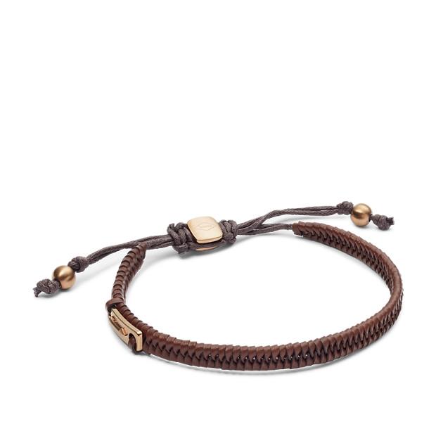 Vintage Casual Dark Brown Leather Bracelet