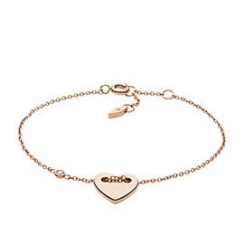 Heart Rose Gold-Tone Steel Bracelet
