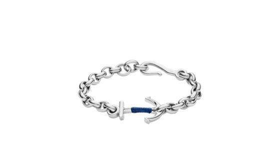 aec66a28e3fdad Anchor Steel Bracelet - Fossil