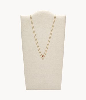 Geometric Gold-Tone Steel Necklaces