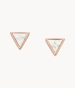 Damen Ohrstecker Triangle Howlite