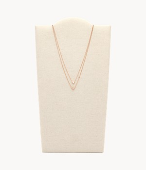 Geometric Rose-Gold-Tone Steel Necklaces
