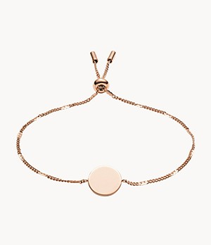 Disc Rose Gold-Tone Bracelet