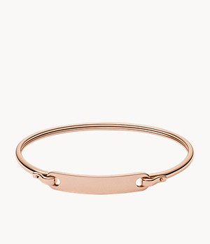 Plaque Rose-Gold-Tone Steel Bracelet