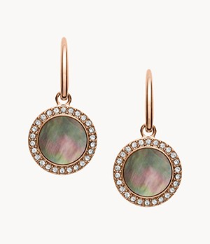 Grey Mother-Of-Pearl Glitz Drop Earrings