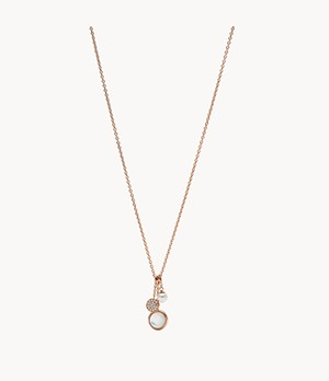 Damen Halskette Rose Gold-Tone Glitz Pendant Necklace