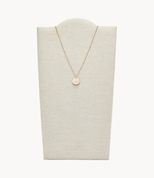 Damen Halskette Disc Gold-Tone Steel Necklace