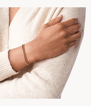 Damen Armband Rose Gold-Tone Steel Bracelet